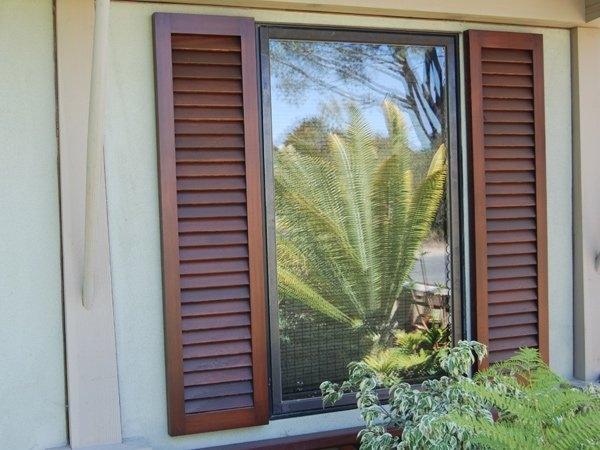 Exterior Fixed Louvers San Diego Shutters San Diego Closet Doors